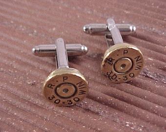 Bullet Cufflinks / 30-30 Rifle Cuff Links / Wedding Cufflinks / Groomsmen Gift / Gifts For Men / Sportsman Gift / Bridal Cufflinks