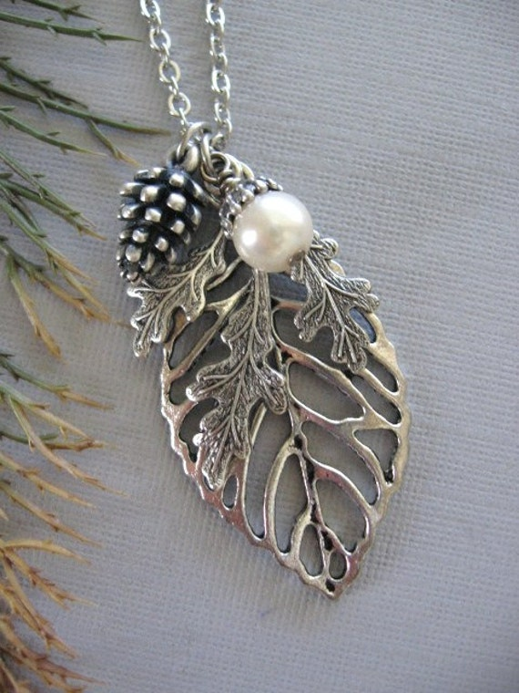 Leaf Jewelry Silver Jewelry Oak Leaf Silver