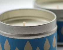 Dust After Rain Soy Candle, 4oz Tin
