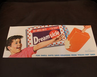 VINTAGE NOS Dreamsicle Paper Advertising