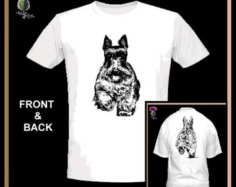 Scottie Dog T-Shirt Scottish Terrier GS16 - All Sizes