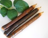 3 Red Cherry Wood Tree Branch Guest Book Twig Pens for Wedding Guestbooks, Writers, Natures Lovers Rustic Gifts Michigan Made