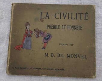 Antique Childrens Book, in French, circa 1902, SALE, Get 25% OFF, Use coupon code 25percentoffwow at checkout!