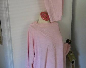 PLUSSIZE SWEATSHIRT Powder PINK Slouchy Oversized Long sleeves