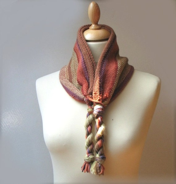 Handwoven neckwarmer, naturally dyed