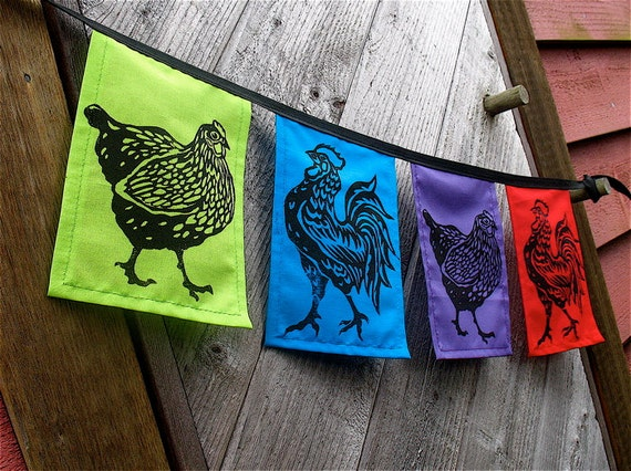 Hen & Rooster Flags