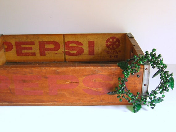 Reserved for Susan  Pepsi Crate Wood/Pepsi Cola /Vintage Industrial Storage/Wall Display Shelf/Beverage/Garden Planter