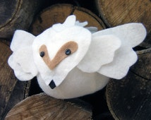 Plush White Owl - Stuffed Animal Ball
