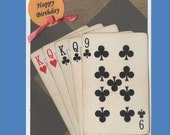 Birthday Card Games Cards - Pinochle, Bridge,Poker,Canasta,Cribbage - Free shipping in USA