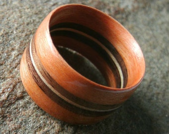 Bentwood Ring Cherry Walnut and Maple