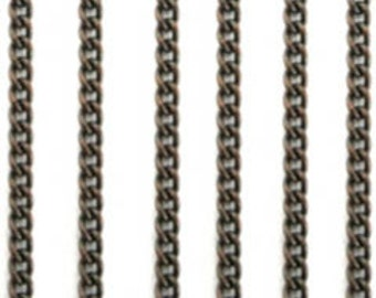 Vintaj 2mm Delicate Curb Chain 2ft CH100