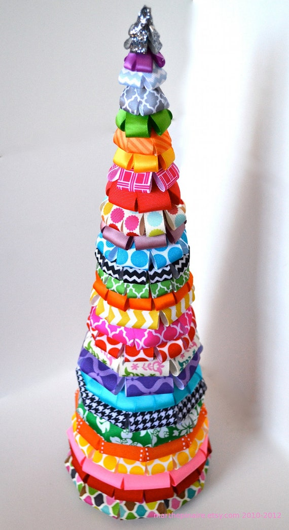 SALE 40% OFF multi colored ribbon christmas tree by ...