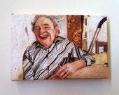 Grandpa / Tiny canvas print -mounted print