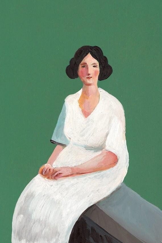 Alida / Original painting of a vintage lady