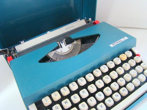 Vintage Royal Sprite Typewriter Japan 1970s 12 Inch Portable SALE