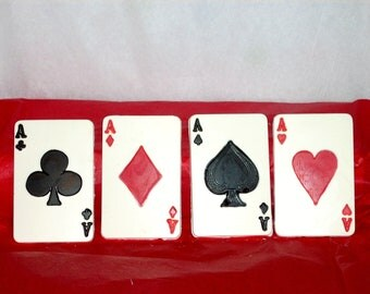 20 Aces White Chocolate Playing Cards Favors