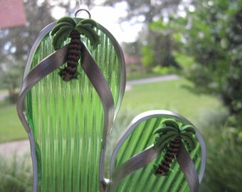 Palm Tree Flipflop Suncatcher