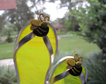 Bumblebee Flipflop Suncatcher