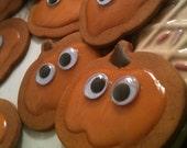Halloween Pumpkin Cookie magnets 4 pc