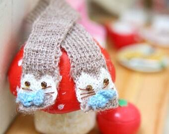 jiajiadoll-hand knitting-camel Kitty Scarf fits Momoko Blythe Misaki Pullip Lati yellow YoSD
