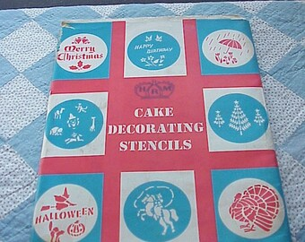 Vintage--1960's--HRM  Cake Decorating Stencils--Christmas--Halloween--Thanksgiving--And More