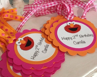 12 Elmo Favor Tags