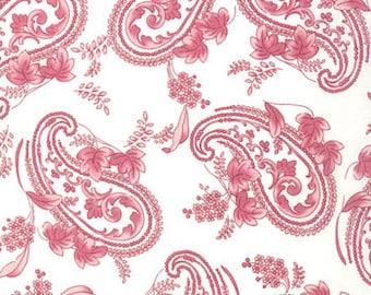 Bunny Hill Designs for Moda, Windsor Lane, Paisley in Porcelain Petal 2842.11 - 1/2 Yard