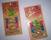 Vintage Barrettes still in original package Children's barrettes and hair ties