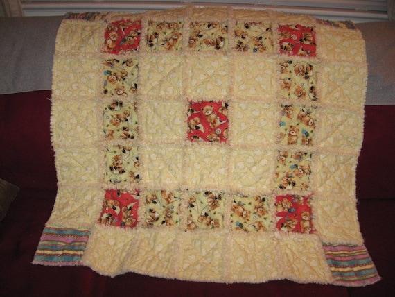 Rag Quilt Pattern Bear : Popcorn The Bear Rag Quilt