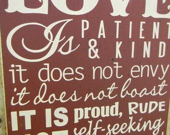 Love is Patient Love is Kind - 1 Corinthians 13