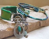 Blue green bangle stack-reserved for Yee