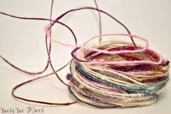 Wire Core Yarn - Handspun yarn - Single ply - OOAK - 18 yards approx  - WIRED