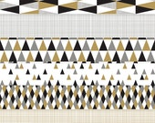 """Retro Revelry PDF Paper Pack in Black / White / Gold / Silver - 8 Digital 12 x 12"""" Patterns for Papercrafting and Digital Scrapbooking"""