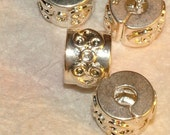 European Style Sterling Plated Fancy Spacer Beads