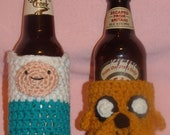 Adventure Time Bottle or Can Cozy - Finn Jake LSP Marceline - Made to Order & Customizable