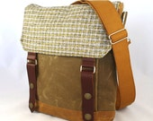 Waxed Canvas Wooly Satchel