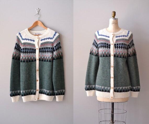wool cardigan / fair isle knit / Northern Lands cardigan