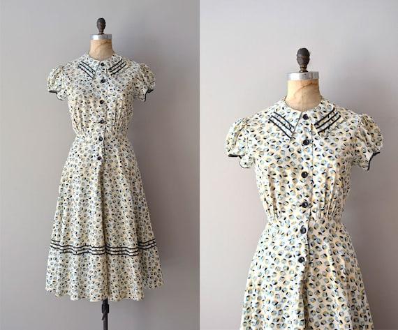 1930s dress / vintage 30s dress / Unicode dress by DearGolden