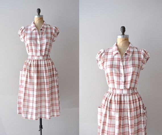 plaid dress / two piece dress / Adventures in Babysitting dress