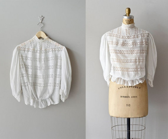 edwardian blouse / 20s blouse / In the Glades