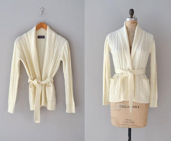 wrap sweater / 1970s cardigan / Get Cozy sweater