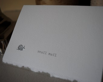 Silver snail mail card