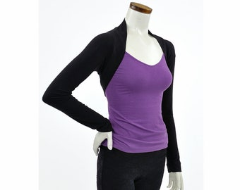 Eco-Friendly Bamboo Shrug Bolero - Black