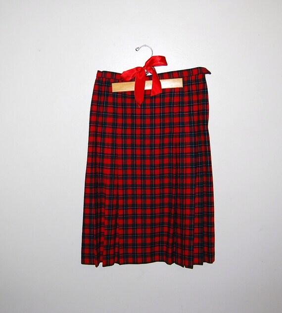 Vintage Skirt Wool Plaid Pendleton