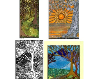 Katzinn Notecards - Tree Collection - Acid Free - Suitable for framing
