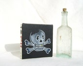 Skull and Crossbones with Gold Tooth, Original Painting on Canvas