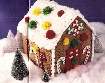 Vintage Crochet Pattern - Gingerbread House