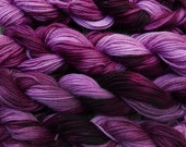 Pure wool yarn worsted weight, hand dyed burgundy and pink