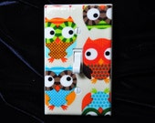 Owls Multi Color Switchplate Light Switch Plate Outlet Cover / Use Drop Down Menu to Select Style  (STANDARD SIZE)