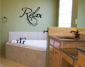 Relax Let Go & Unwind vinyl wall decal